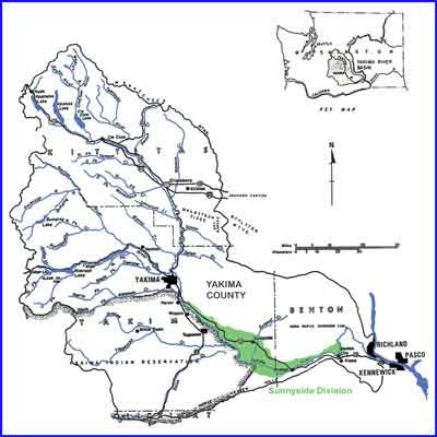 Sunnyside Valley Irrigation District map